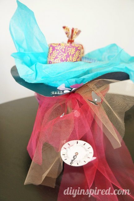 Mad Hatter Top Hat Gift Basket (2)