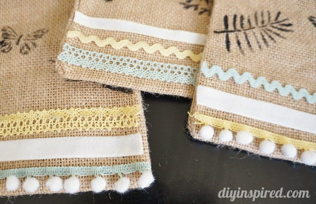 Stenciled Burlap Sacks DIY