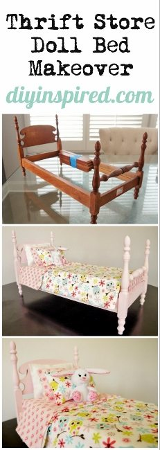Thrift Store Doll Bed Makeover (231x650)