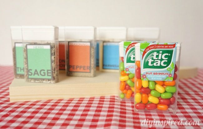 Tic Tac Pack Spice Containers Upcycled