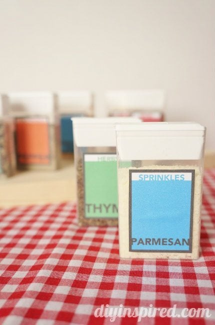 Tic Tac Pack Spice Containers with Printable