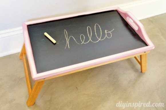 Chalkboard Activity Tray Thrift Store Makeover