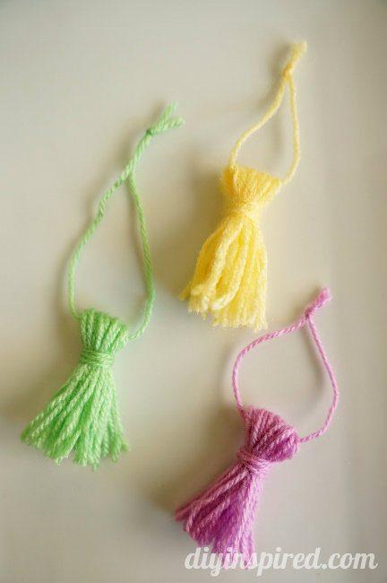 DIY Yarn Tassels How To