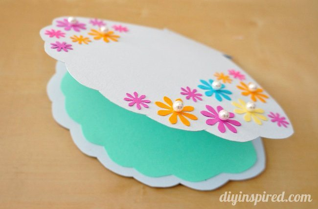 Handmade Little Mermaid Clam Shell Birthday Card