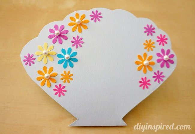 Handmade Little Mermaid Clam Shell Card for a birthday