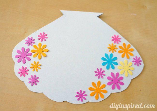 Handmade Little Mermaid Clam Shell Card