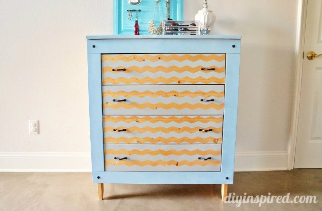 Spray Painted Dresser Makeover