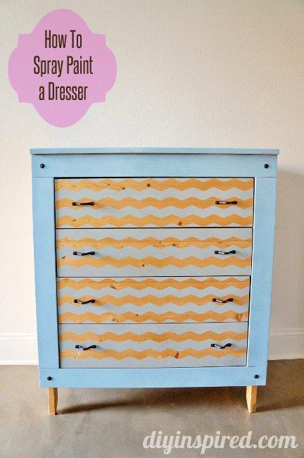 Spray Painted Krylon Dresser