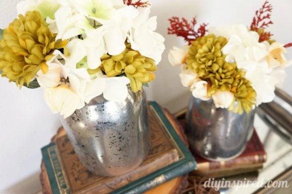 DIY Faux Mercury Glass Thrift Store Vases