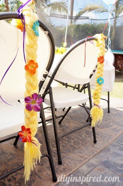DIY Rapunzel Braid Party Favors and Decor