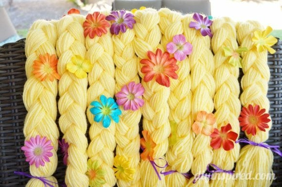 DIY Rapunzel Braid Party Favors