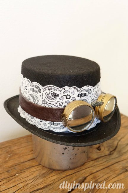 DIY Steampunk Hat and Goggles Costume