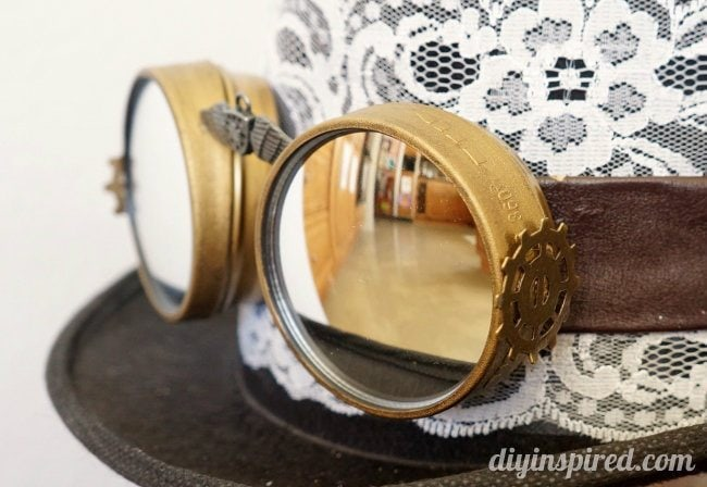 DIY Steampunk Hat and Goggles Halloween