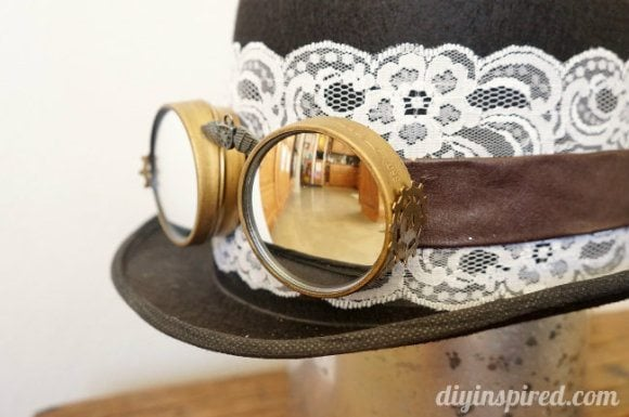 DIY Steampunk Top Hat and Goggles