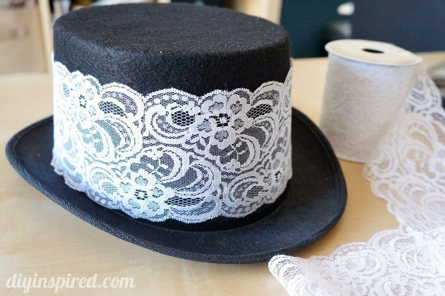 DIY Steampunk Hat with Lace
