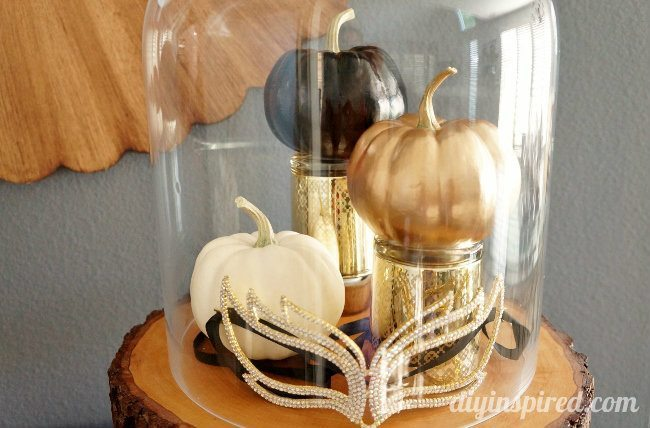 Easy Gold, Black, and White Pumpkins DIY