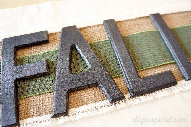 Fall Chalkboard Letters Door Hanging