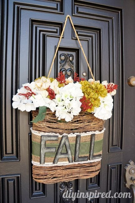 Fall Decor with Flowers