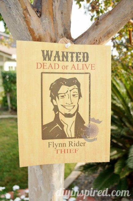Flynn Rider Wanted Poster Free Printable