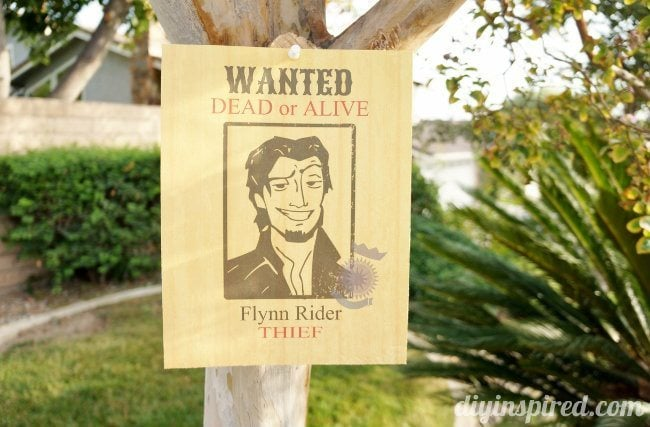 Flynn Rider Wanted Poster Printable
