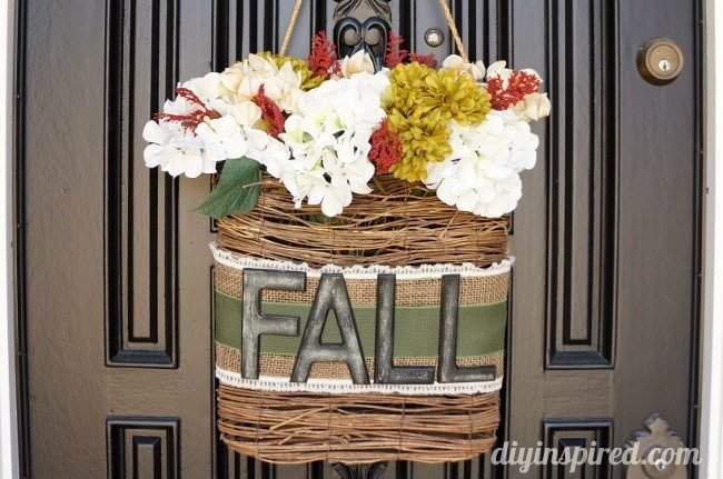 Hanging Fall Wreath DIY