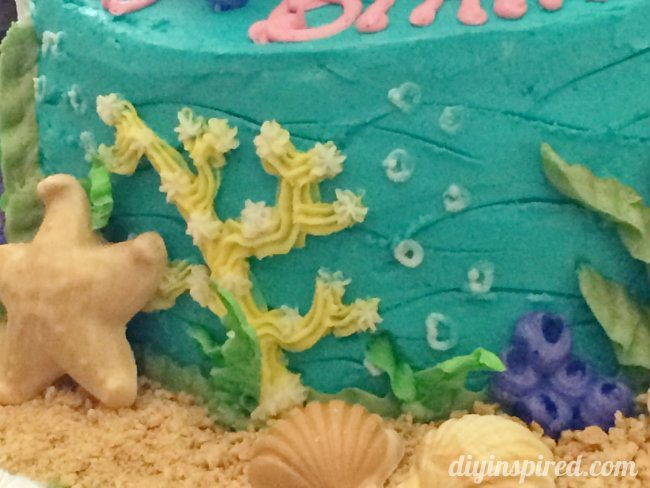 Little Mermaid Layered Cake