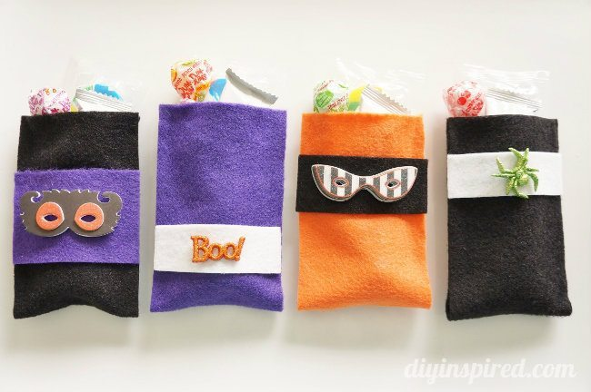 No Sew Felt Halloween Treat Bags
