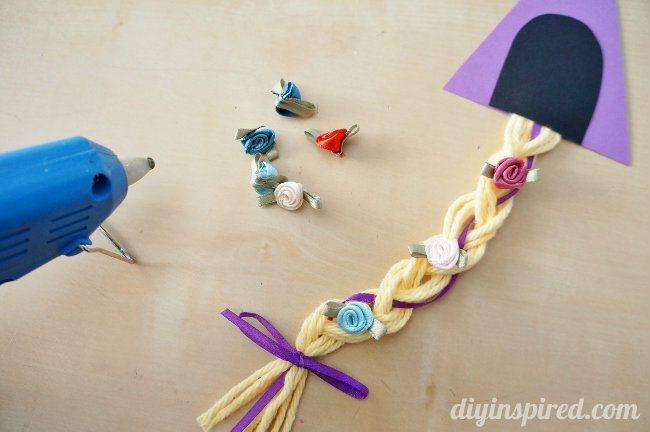 Rapunzel Yarn Hair Invitation DIY