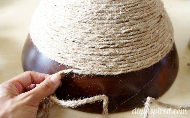 Rope Thrift Store Bowl DIY