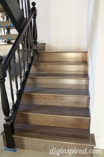 Stair-Remodel wit Pewter Ash Hardwood