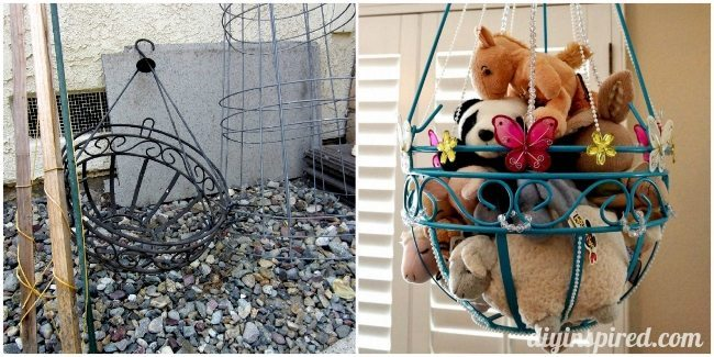 Thrift Store Baskets to Makeover for your Kids