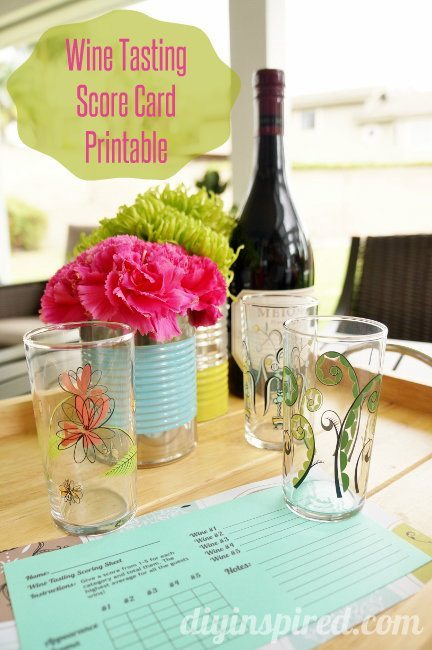 Wine Tasting Party Score Card Printable
