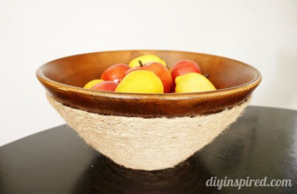 Thrift Store Find Wooden Bowl Makeover
