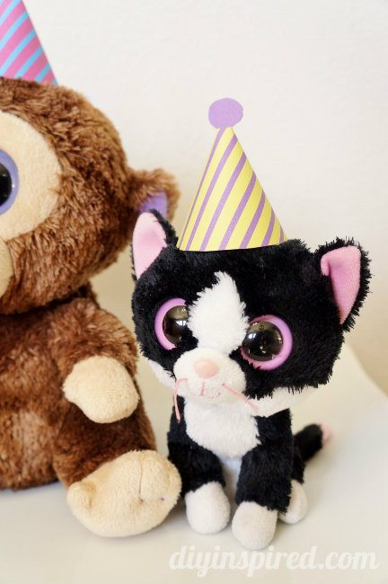 Beanie Baby Birthday Party Hats