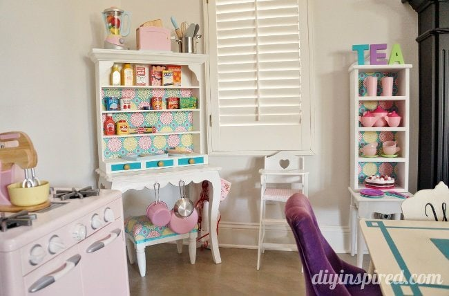 Play Kitchen Hutch from Thrift Store Finds