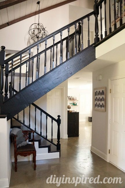 Our Black Staircase Makeover (2)