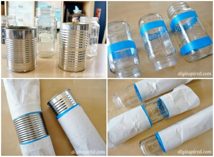 Easy Craft Idea: Recycled Can and Mason Jar Vases and Centerpieces