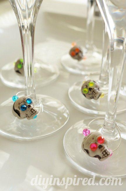 Skull Wine Charms DIY