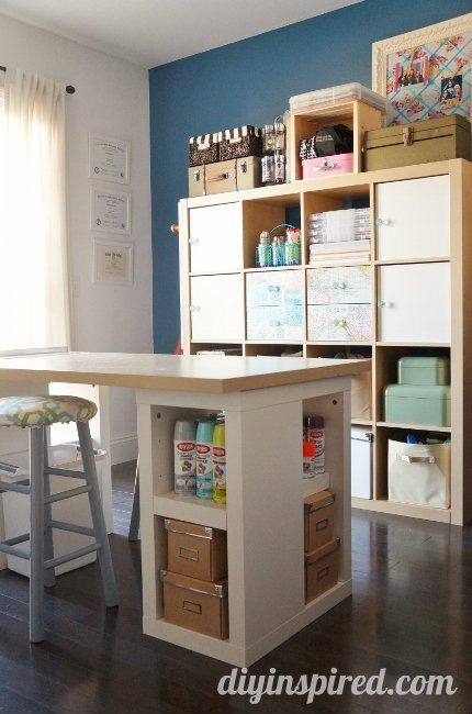 Craft Table and Storage (1)