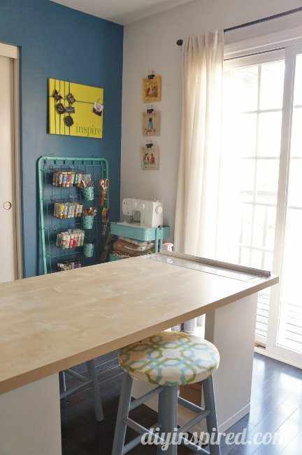 Craft Table and Storage (3)