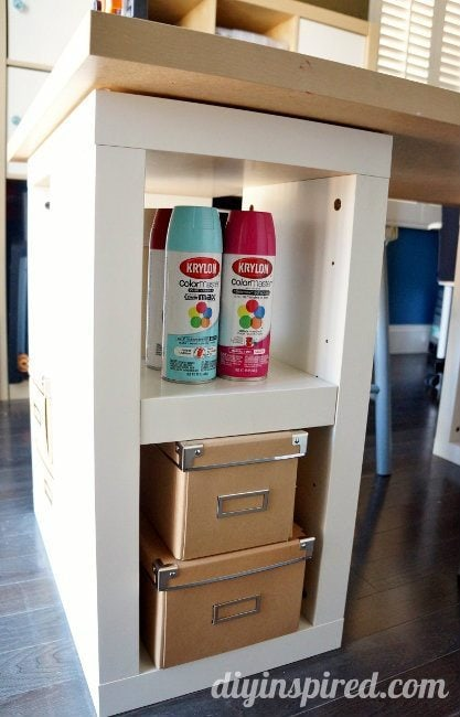 Craft Table and Storage (4)