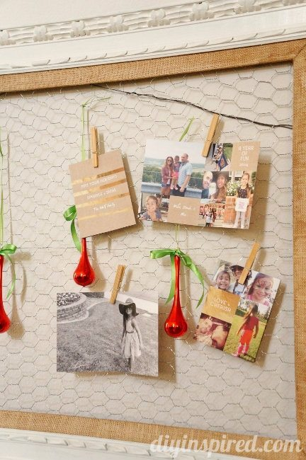 DIY Christmas Card Display Pear Tree Greetings