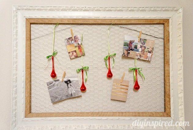 DIY Christmas Card Display Upcycled