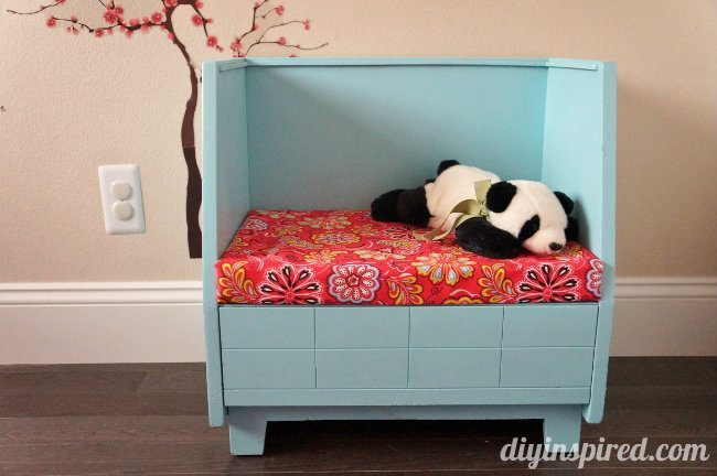 Upcycled Thrift Store Bench for Kids