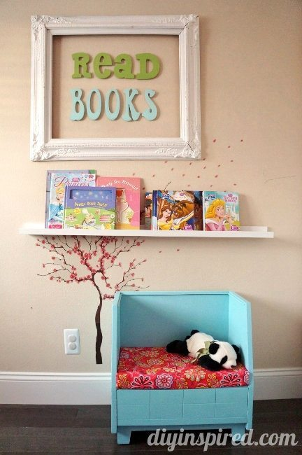 Upcycled Thrift Store Bench for Kids Reading Knook