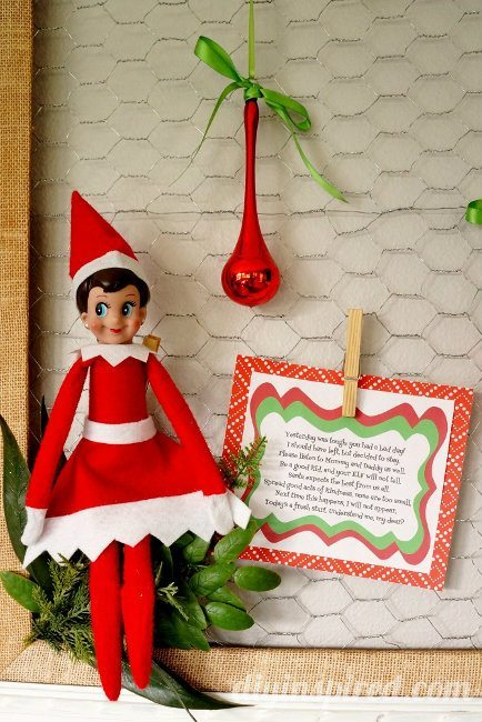 Elf on the Shelf Bad Day Poem Printable