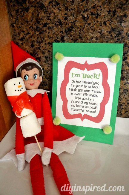 Elf on the Shelf First Day Idea