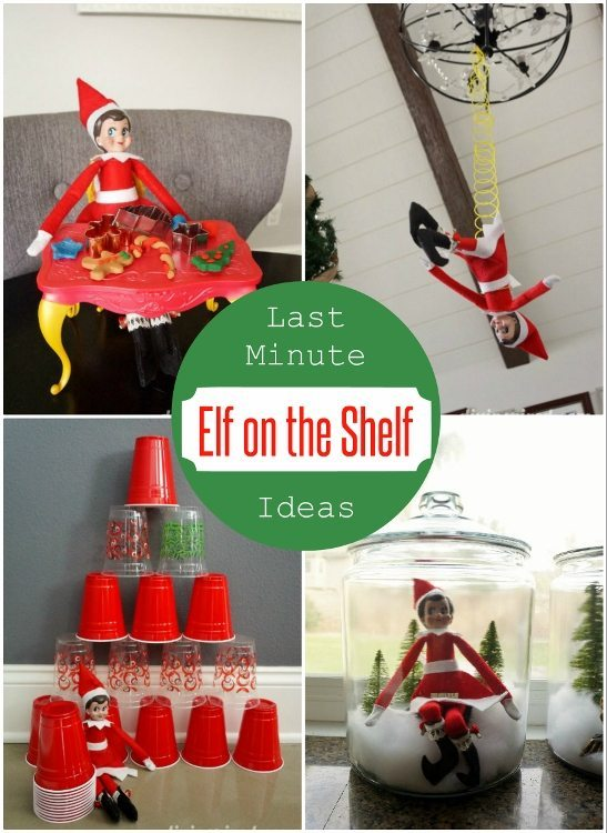 Last Minute Elf on the Shelf Ideas DIY Inspired