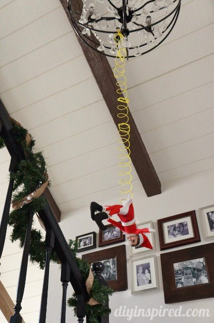 Last Minute Elf on the Shelf Ideas Day 13 Bungee Elf (2)