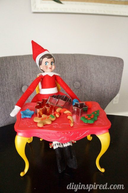 Last Minute Elf on the Shelf Ideas Day 14 Playdoh Elf (1)